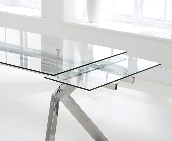 Buy Mark Harris Palazzo Glass Dining Table – 200Cm Rectangular Intended For Trendy Palazzo Rectangle Dining Tables (Gallery 3 of 20)