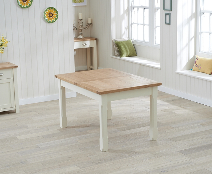 Buy Mark Harris Sandringham Oak And Cream Rectangular Extending Pertaining To Widely Used Cream And Wood Dining Tables (Gallery 18 of 20)