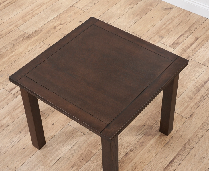 Buy Mark Harris Sandringham Solid Dark Oak Square Flip Top Extending Regarding Most Current Solid Dark Wood Dining Tables (View 4 of 20)