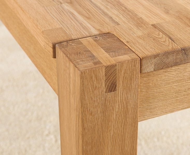 Buy Mark Harris Verona Solid Oak Rectangular Extending Dining Table With Regard To Recent Solid Oak Dining Tables (View 5 of 20)