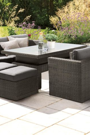 Buy Monaco Living And Dining Table Garden Set From The Next Uk Intended For Well Known Monaco Dining Sets (View 17 of 20)