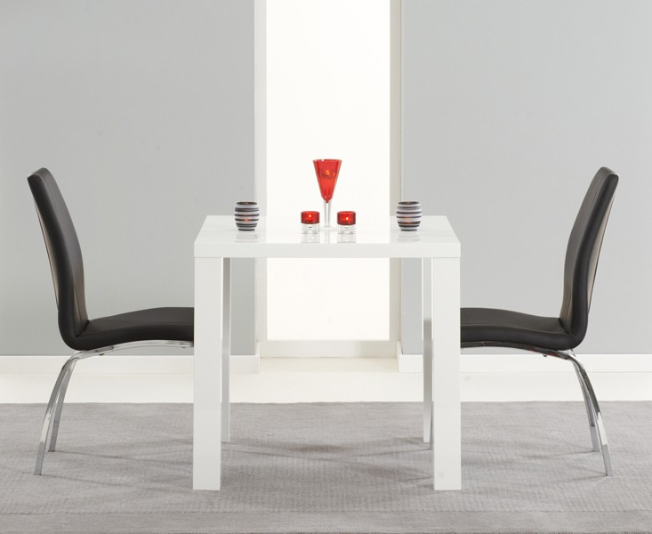 Buy Nikita High Gloss White Dining Table 80, 120 Or 160 Cm Intended For Famous Gloss White Dining Tables And Chairs (View 20 of 20)