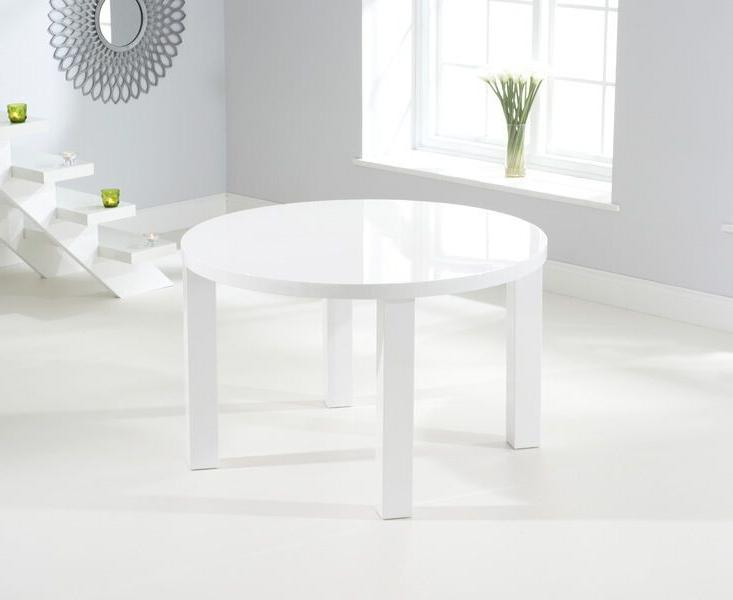 Buy Nikita Round White Gloss Dining Table 120cm Intended For Recent White Gloss Dining Tables (View 18 of 20)