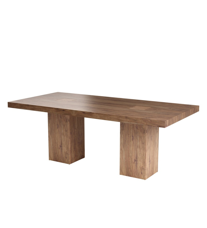 Buy Portland Solid Wood Six Seater Dining Table In Premium Acacia Inside Famous Portland 78 Inch Dining Tables (Gallery 14 of 20)