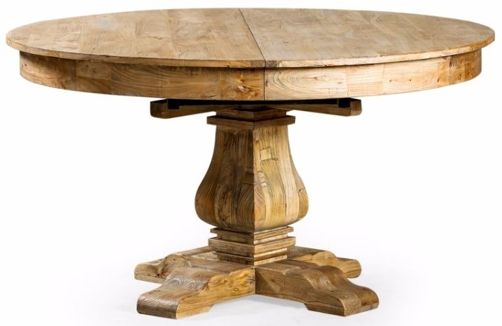 Buy Reclaimed Elm Round Extending Large Dining Table – 145cm 185cm Throughout Favorite Extending Round Dining Tables (View 12 of 20)