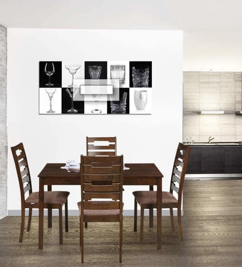 Buy Rocco Four Seater Dining Set In Walnut Finishroyal Oak Regarding Best And Newest Rocco 7 Piece Extension Dining Sets (View 7 of 20)
