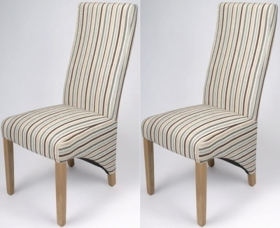 Buy Shankar Dining Chairs: Best Price Online – Cfs Uk With Regard To Well Known Blue Stripe Dining Chairs (View 5 of 20)