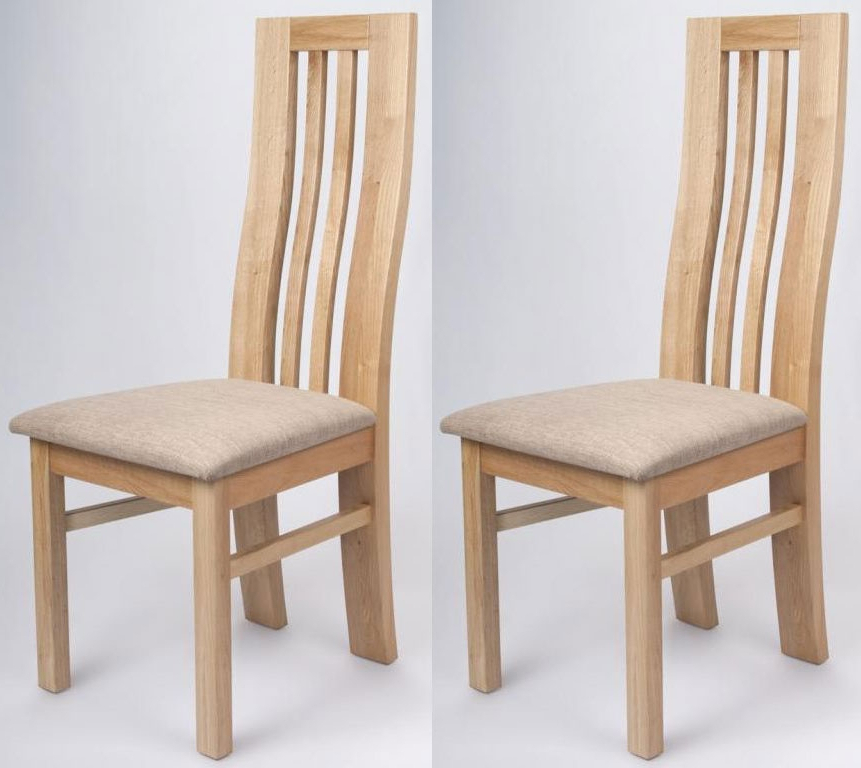 Buy Shankar Phoenix Oak Dining Chair (Pair) Online – Cfs Uk Regarding Recent Oak Dining Chairs (View 2 of 20)