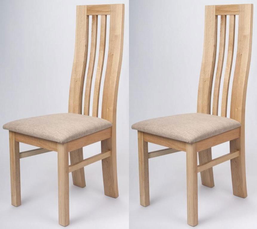 Buy Shankar Phoenix Oak Dining Chair (Pair) Online – Cfs Uk Regarding Recent Oak Dining Chairs (Gallery 2 of 20)