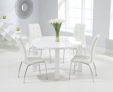Buy The Atlanta 120cm Round White High Gloss Dining Table With With Regard To Most Up To Date Oval White High Gloss Dining Tables (View 9 of 20)