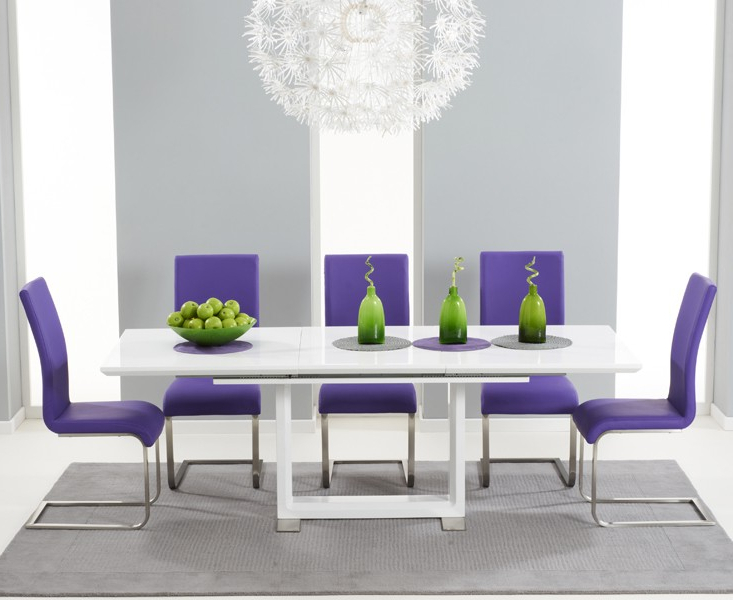 Buy Tula Extending White High Gloss Dining Table 160 220Cm Inside Famous High Gloss Dining Room Furniture (View 3 of 20)