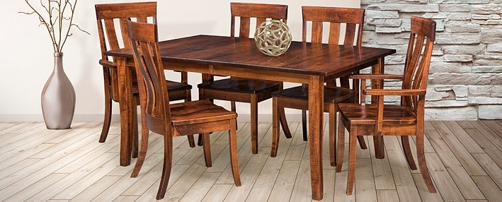 Cabinfield Within Chandler 7 Piece Extension Dining Sets With Wood Side Chairs (View 3 of 20)