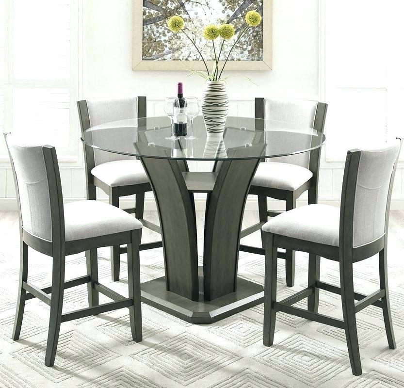 Caden 5 Piece Round Dining Sets Pertaining To 2017 Exotic Counter Height Dining Chair Chairs Studio Kangas 5 Piece (View 20 of 20)