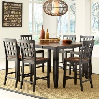 Caden 7 Piece Dining Sets With Upholstered Side Chair Intended For Famous Costco: Somerset 7 Piece Counter Height Dining Set (View 5 of 20)