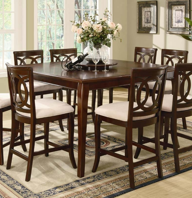 Caden Round Dining Tables With Regard To Popular Coaster Caden Counter Height Table 102038 At Homelement (View 4 of 20)