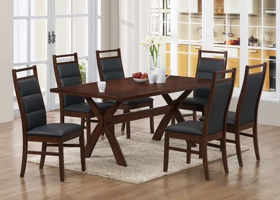 Caira 7 Piece Rectangular Dining Sets With Upholstered Side Chairs With 2017 Part Of Modern Collection, This Dining Room Set Comes In A Wonderful (View 4 of 20)
