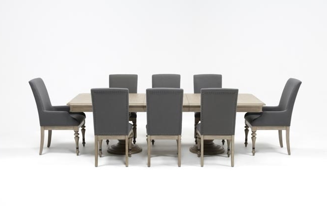 Featured Photo of Caira 9 Piece Extension Dining Sets With Diamond Back Chairs