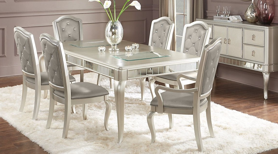 Caira 9 Piece Extension Dining Sets Within Trendy Sofia Vergara Paris Champagne 5 Pc Dining Room (View 14 of 20)