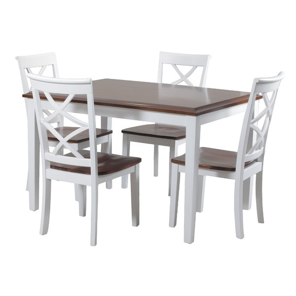 Caira Black 5 Piece Round Dining Sets With Upholstered Side Chairs Pertaining To 2017 9 Piece Dining Sets You'll Love (View 10 of 20)