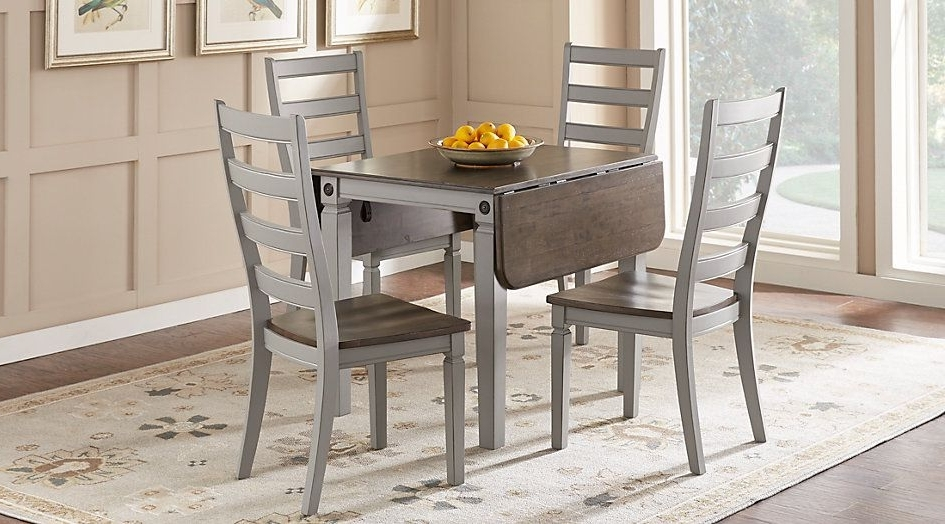Caira Black 5 Piece Round Dining Sets With Upholstered Side Chairs Pertaining To Trendy Picture Of Velino Gray 5 Pc Rectangle Dining Set From Furniture (View 20 of 20)
