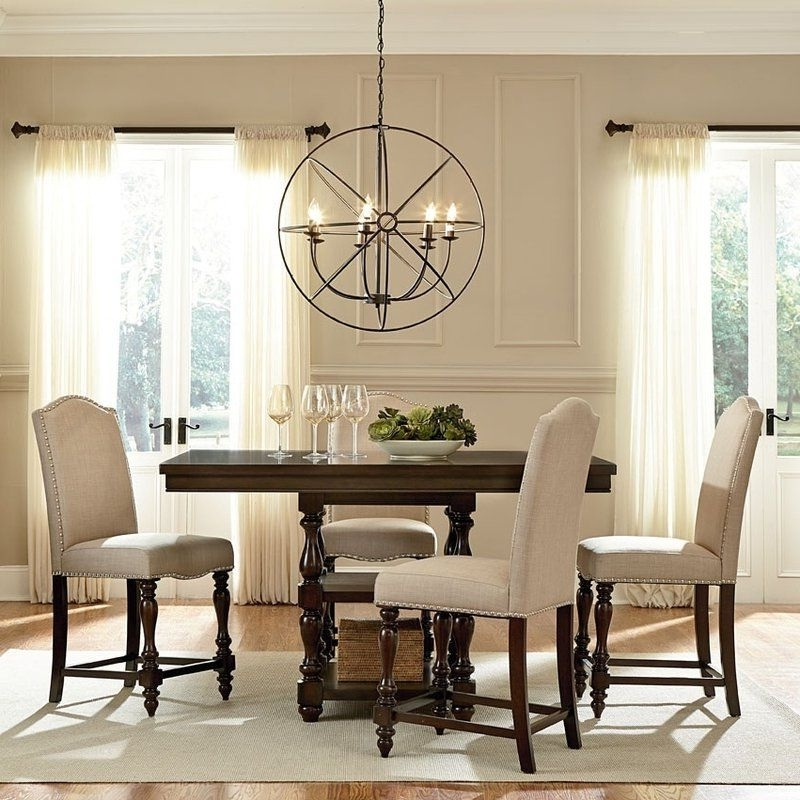 Caira Black 5 Piece Round Dining Sets With Upholstered Side Chairs Within Most Popular Foster 5 Piece Dining Set (View 8 of 20)