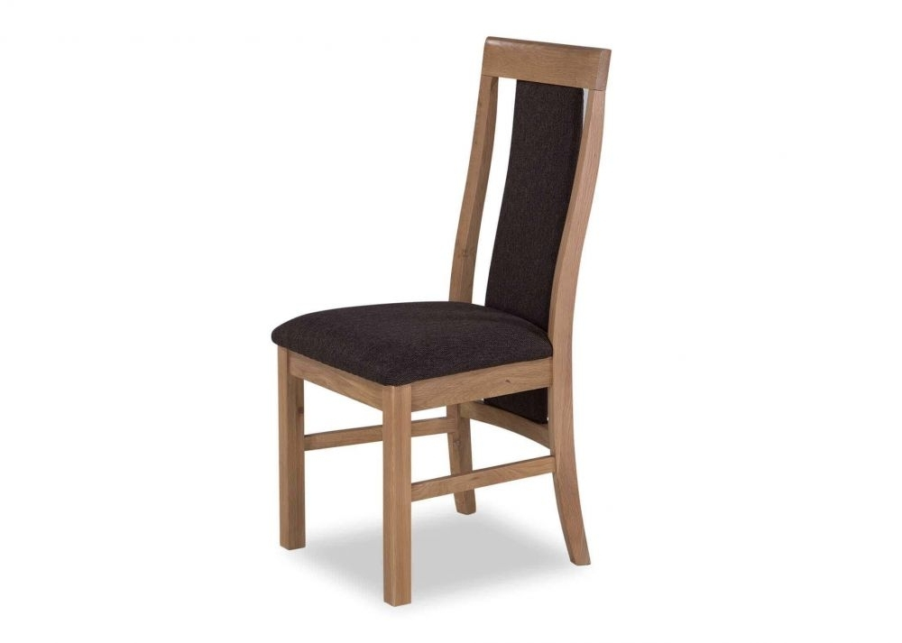 Caira Black Upholstered Arm Chairs Regarding Well Liked Dark Grey Fabric And Oak Frame Dining Chair – Cairo – Ez Living (View 4 of 20)