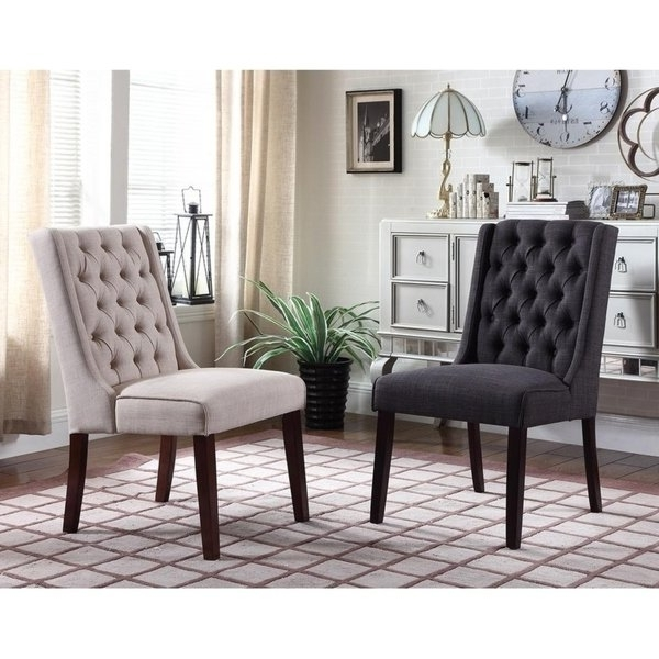Featured Photo of Caira Black Upholstered Side Chairs