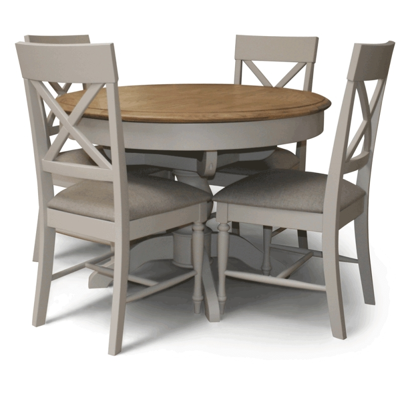 Caira Extension Pedestal Dining Tables Within Newest Charlotte Round Dining Table Set (View 5 of 20)