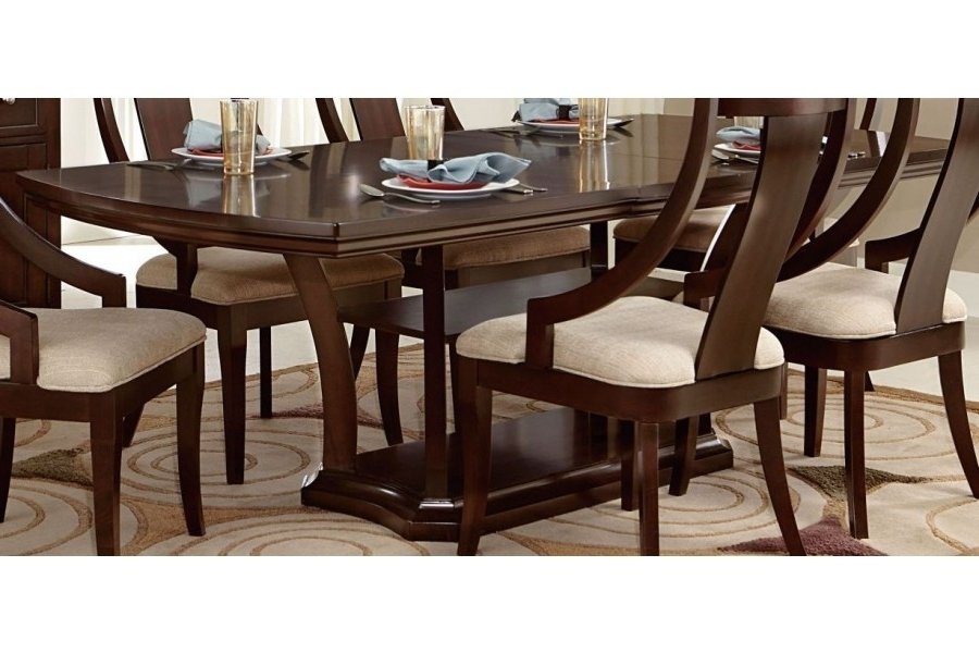 Caira Extension Pedestal Dining Tables Within Trendy Aubriella Rectangular Pedestal Dining Table W/ Extension Leaf (View 13 of 20)