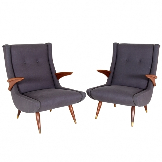 Caira Upholstered Arm Chairs Regarding Most Current Pair Of Upholstered Armchairs Designedrene Gabriel – Caira Mandaglio (View 8 of 20)