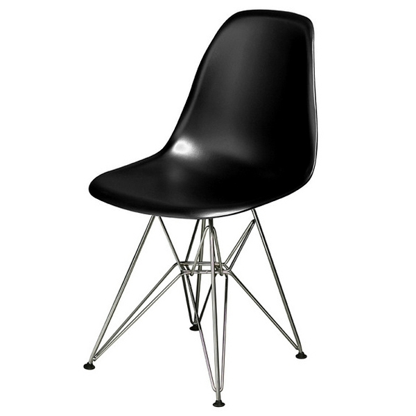 Cairo Chair With Chrome Base – Black (View 9 of 20)