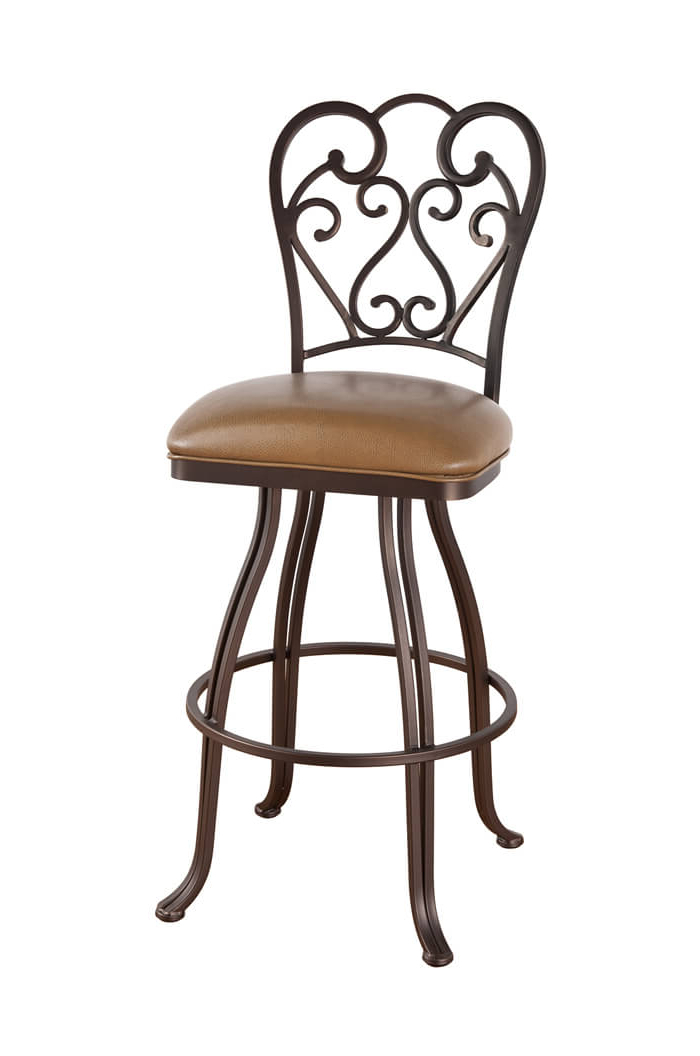 Callee Valencia Swivel Stool With Swirl Back Design – Free Shipping! Within Newest Valencia 5 Piece Counter Sets With Counterstool (View 5 of 20)