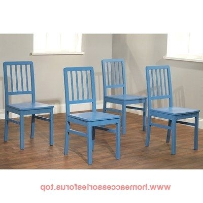 Camden Dining Chairs With Newest Tms Camden Dining Chair, Blue, Set Of 4 Buy Now $ (View 5 of 20)