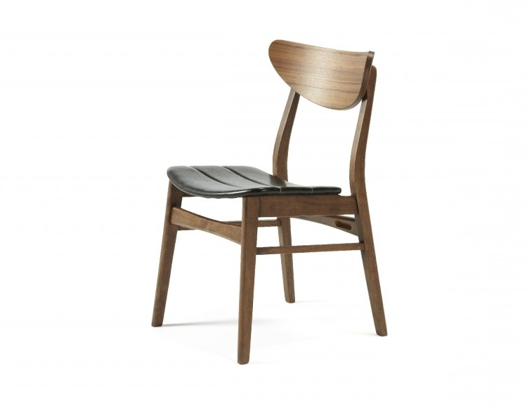 Camden Dining Chairs Within Current Serene Camden Walnut Finish Dining Chairs (Pair)Serene Furnishings (View 11 of 20)