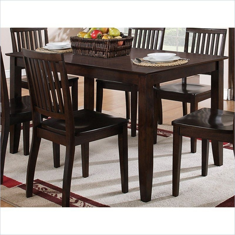 Candice 5 Piece Rectangular Dining Table Set In Dark Espresso In Fashionable Candice Ii 7 Piece Extension Rectangle Dining Sets (View 2 of 20)