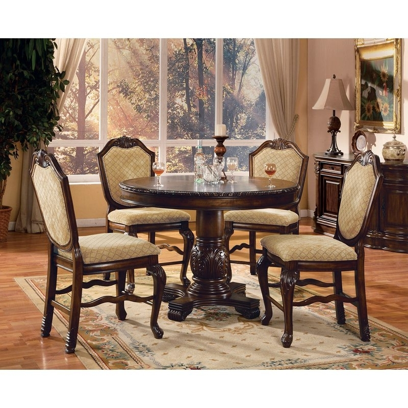 Candice Ii 5 Piece Round Dining Sets Inside Widely Used Astoria Grand Mcclelland 5 Piece Counter Height Dining Table Set (View 4 of 20)