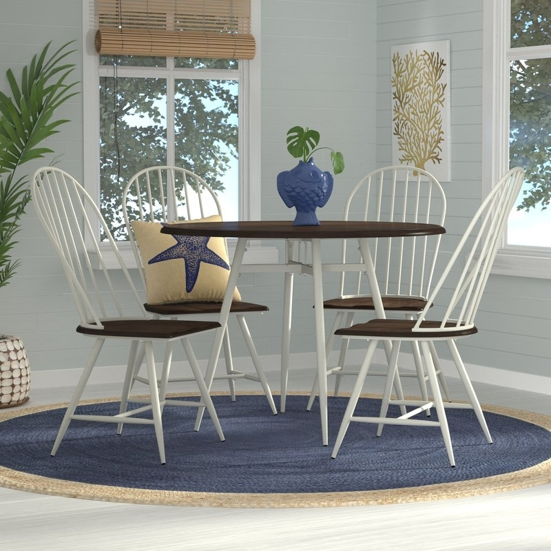 Candice Ii 5 Piece Round Dining Sets Regarding Most Current Beachcrest Home Rio Pinar 5 Piece Dining Set & Reviews (View 9 of 20)