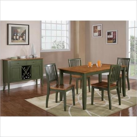 Candice Ii 5 Piece Round Dining Sets Throughout Well Known Buy Steve Silver Company Candice Round Dining Table In Oak And Green (View 6 of 20)
