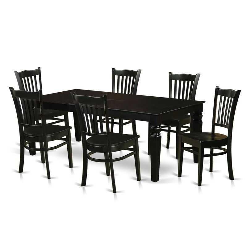 Candice Ii 7 Piece Extension Rectangular Dining Sets With Uph Side Chairs With Regard To Trendy Darby Home Co Beldin 7 Piece Dining Set (View 7 of 20)