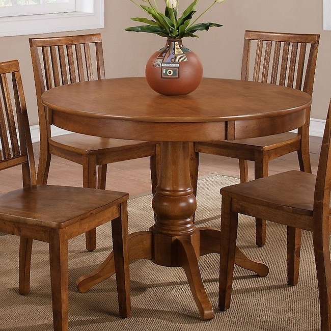 Candice Ii Round Dining Tables Within Most Up To Date Candice Round Dining Table (oak) Steve Silver Furniture (View 5 of 20)