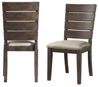 Candice Ii Slat Back Side Chairs With Regard To Most Up To Date Chandler Fabric Side Chair (View 8 of 20)