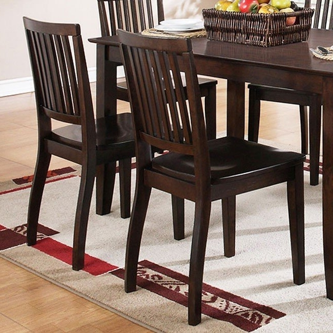 Candice Ii Slat Back Side Chairs Within 2018 Candice Rectangular Dining Room Set (Dark Espresso) Steve Silver (View 9 of 20)