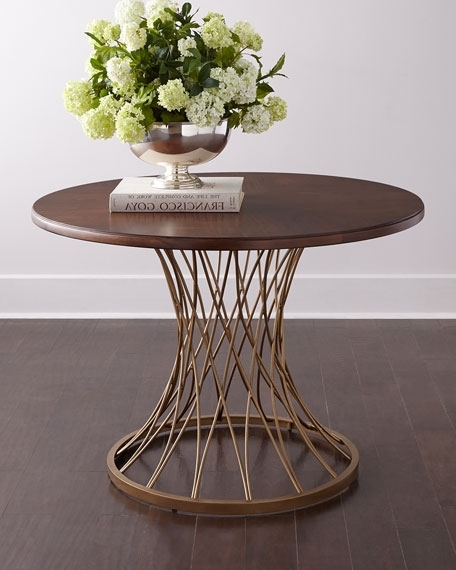 Candice Olson Vortex Round Entry Table With Regard To Latest Candice Ii Round Dining Tables (View 14 of 20)