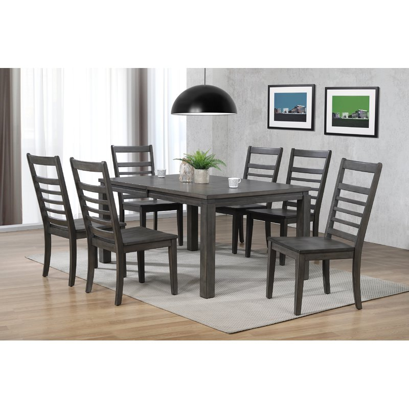 Canora Grey Morin 7 Piece Dining Set (View 4 of 20)