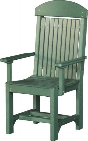Captain's Chair (dining) – Cedar & Black – Pine Glade Buildings For Best And Newest Green Cedar Dining Chairs (View 13 of 20)