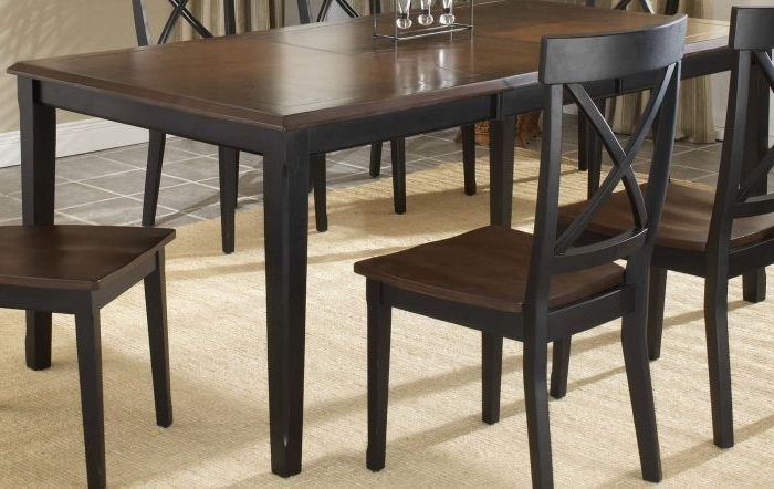 "Carly Rectangle Dining Tables For Well Known Hillsdale Englewood Rectangle Dining Table With 18"" Butterfly Leaf (View 18 of 20)"