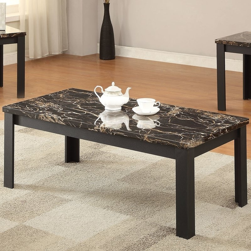 Carly Rectangle Dining Tables With Regard To Well Liked Acme Furniture Carly 3 Piece Coffee Table Set & Reviews (View 12 of 20)