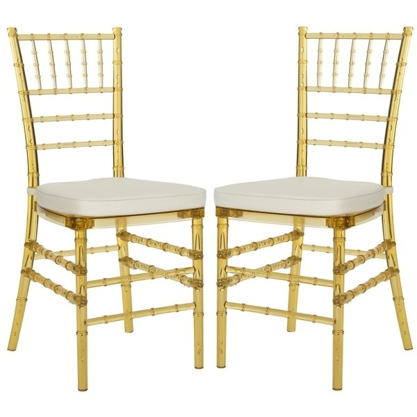 Carly Side Chairs Within Well Liked Shop Safavieh Country Classic Dining Carly Amber Dining Chairs (set (View 7 of 20)