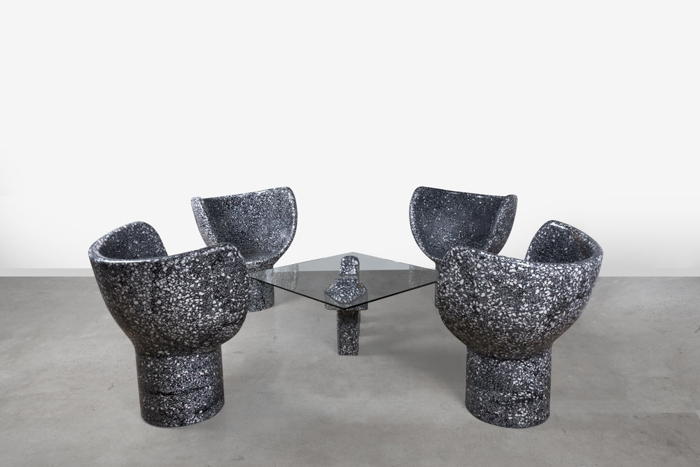 Carly Triangle Tables With Regard To Fashionable Terrazzo — Carly Jo Morgan (View 3 of 20)