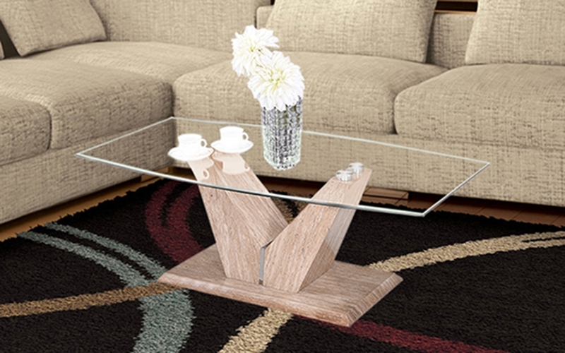 Carmel Oak Side Chairs In Popular Buy Royaloak Carmel Coffee Table With Tempered Glass Toponline (View 3 of 20)